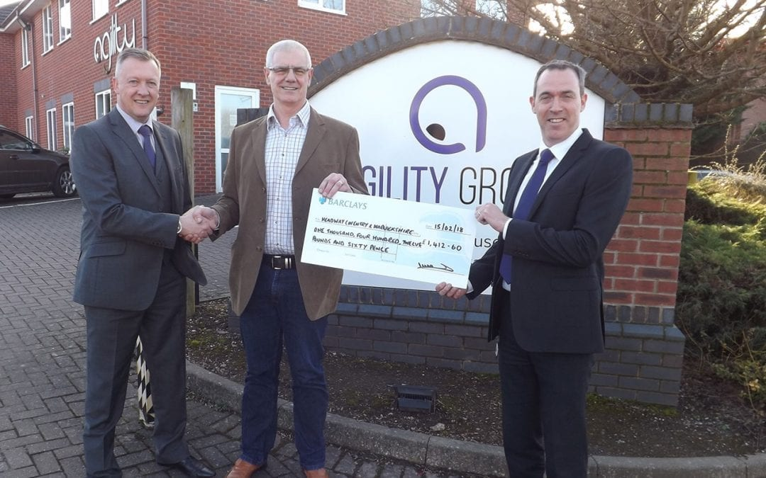 Agility Present Headway With Fund Raising Cheque